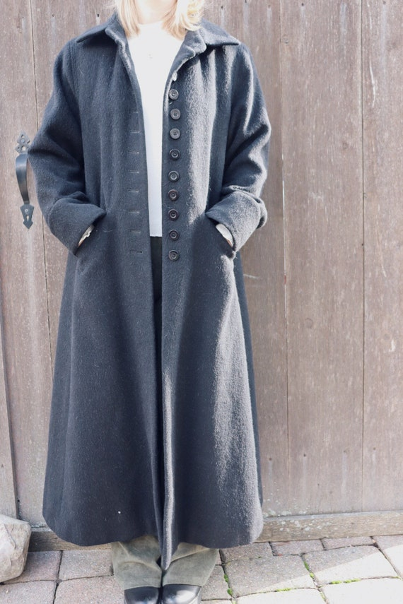 Vintage Bernard Holtzman Wool Button Closure Maxi… - image 1