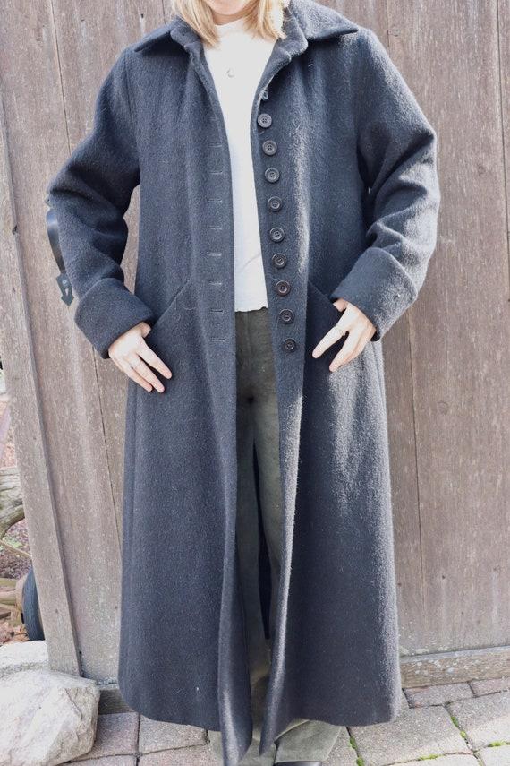 Vintage Bernard Holtzman Wool Button Closure Maxi… - image 3
