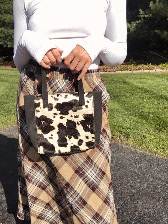 1970s Cow print Bag - Genuine Leather