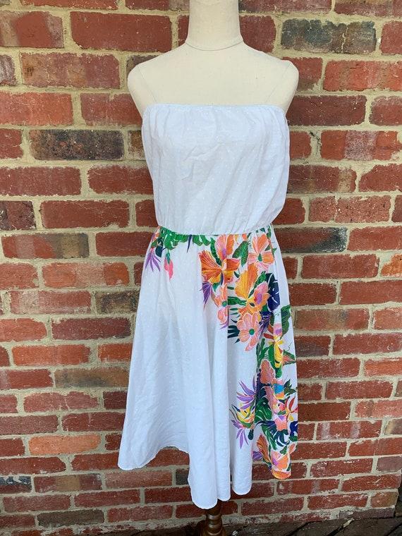 Vintage Dress 1980s / 1980s Floral Dress / Vintage