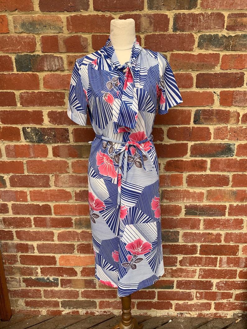 Vintage 1970s Dress  Vintage 70/'s Day Dress  Vintage Midi Dress  Caron Fashions Vintage Dress