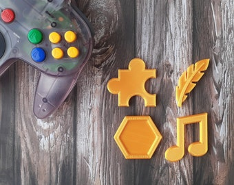 Banjo Kazooie Collectibles - Fridge Magnets (Jiggy, Feather, Note, Honeycomb)