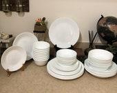 48 pc Corelle Winter Frost White Dinnerware
