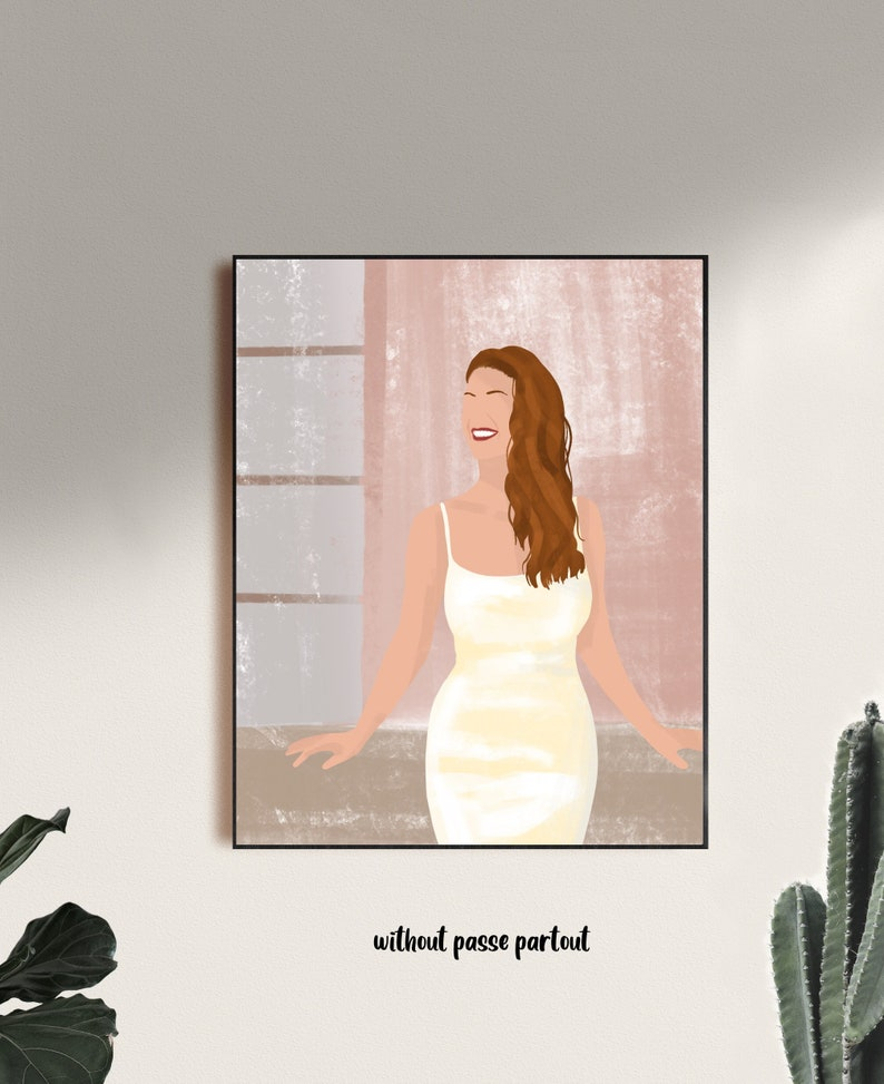 commissions minimal requests customized art valentines gallery art Custom art printed personal portrait wall art home decor