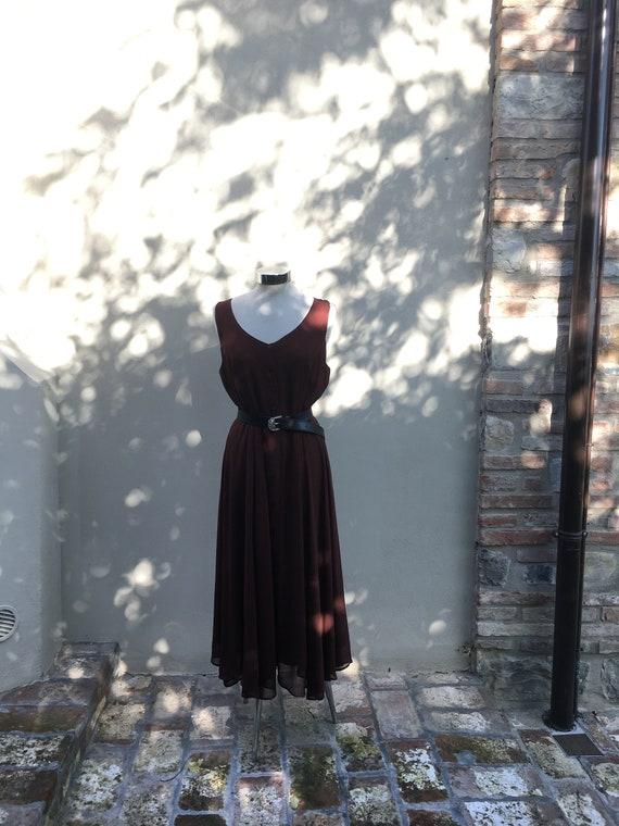 Vintage 80s pinafore long dress / size M