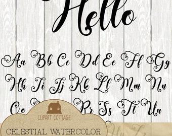 Script Rae Dunn Inspired Font SVG DXF Bold Cricut Silhouette Wedding Invite Party