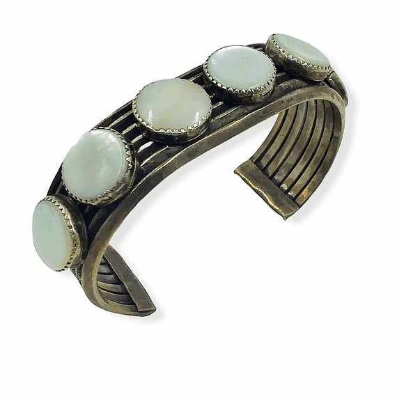 Navajo Mother of Pearl Pawn Bracelet
