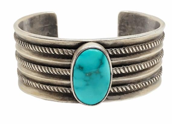 Navajo Old Pawn Kingman Turquoise Bracelet