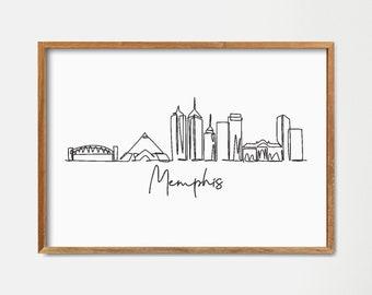 Memphis Skyline Etsy