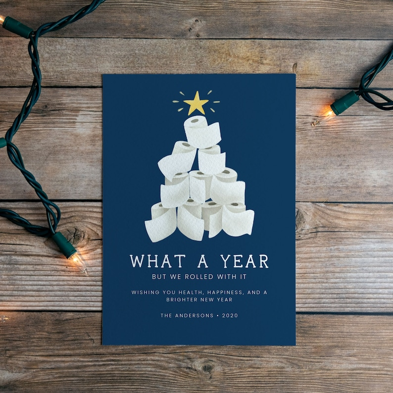 We Rolled With It 2020 Digital Holiday Card  Funny Christmas image 0