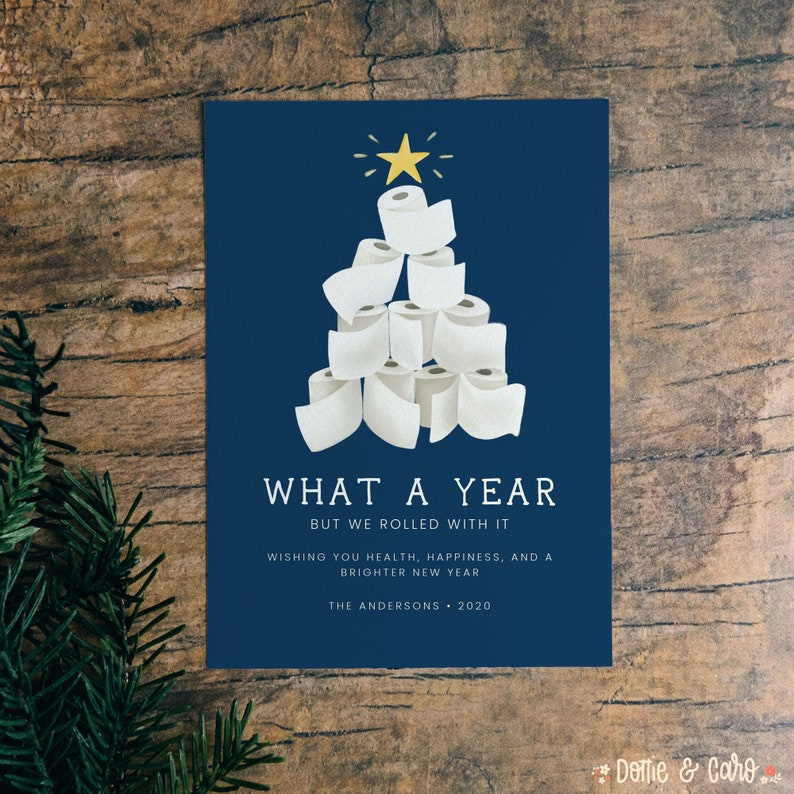 we rolled with it 2020 digital holiday card funny