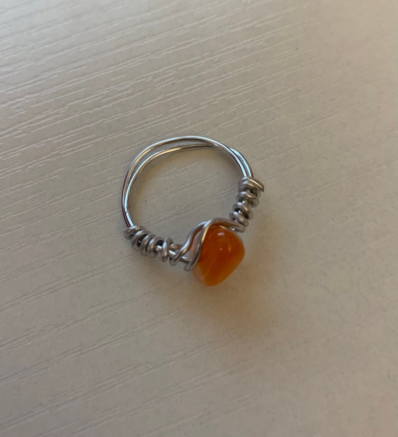 Gemstone Rings Thick Wire