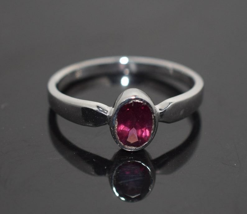 Garnet ring Promise Ring Simple Ring Rhodolite garnet ring 925 Sterling Silver ring