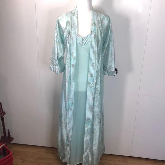 Vintage 80's lingerie slip & robe