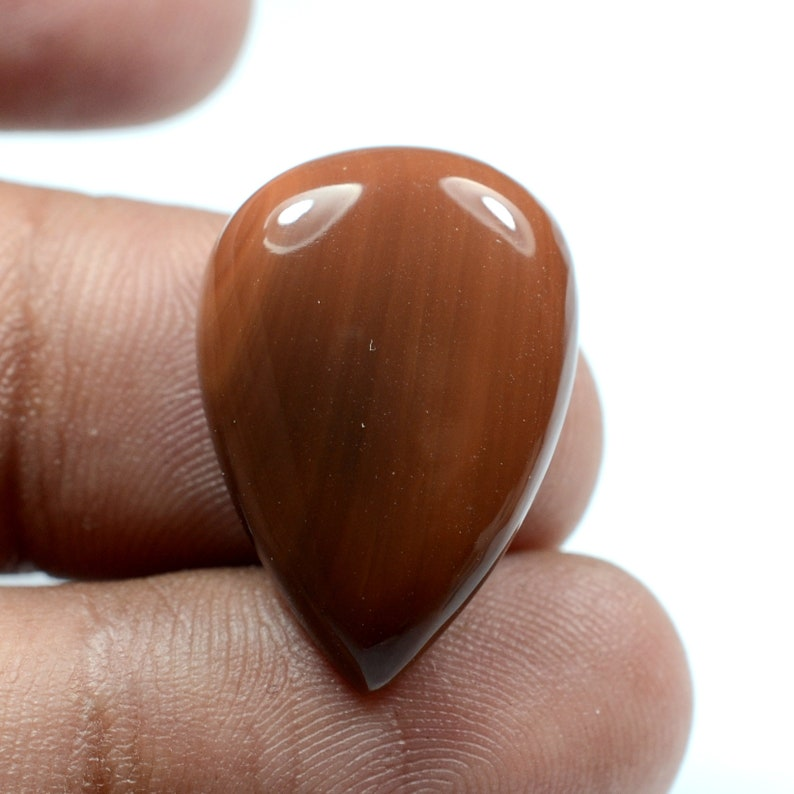 Natural Mexican Fire Opal Cabochon Pear Shape Code-G-201