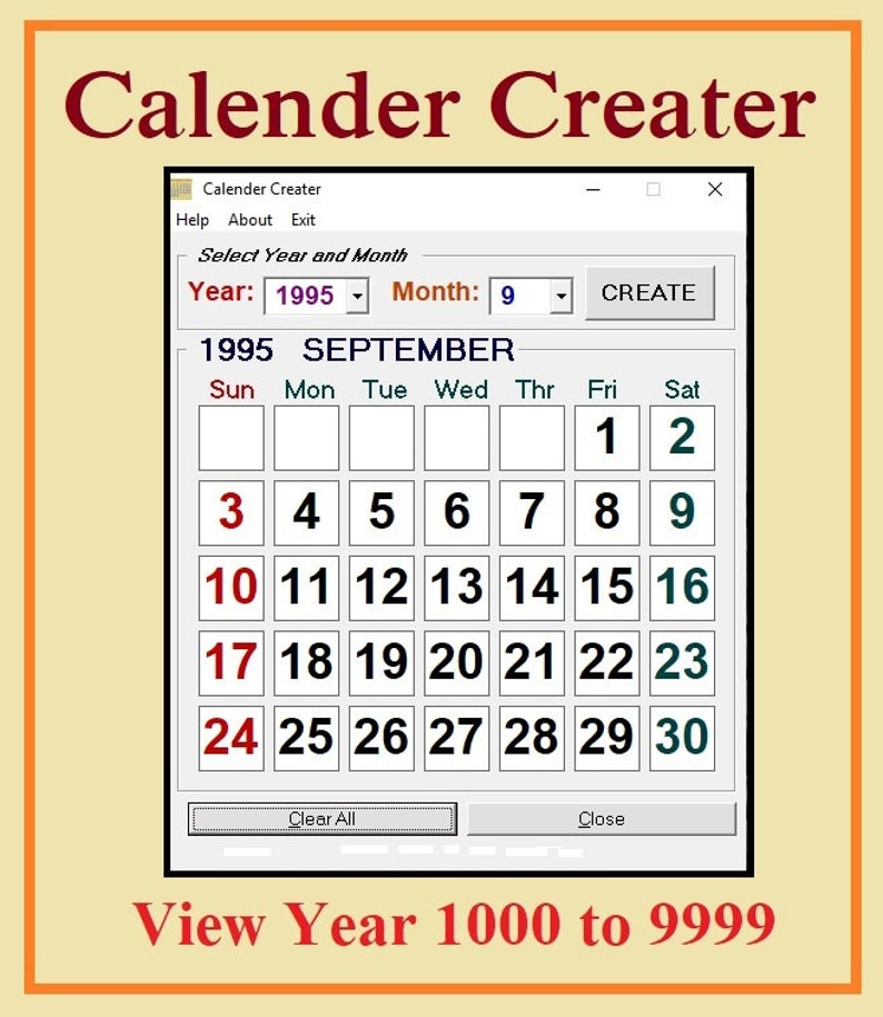 Calender Creater Software image 0
