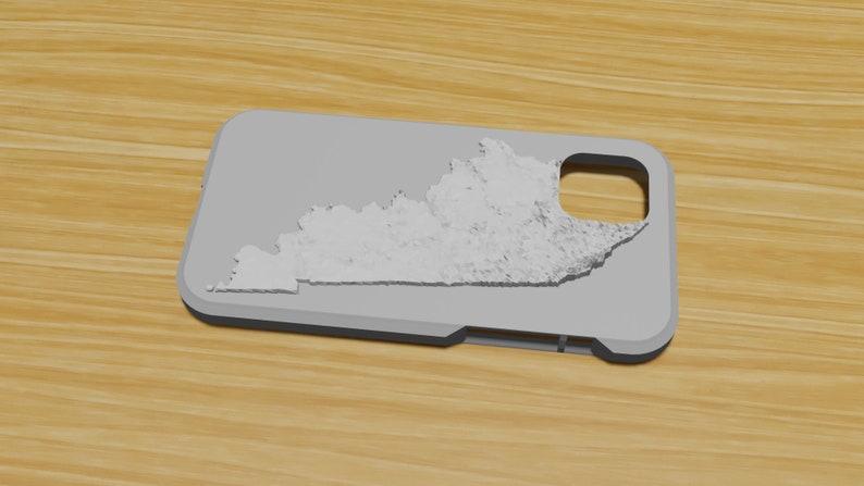 Kentucky State Map Phone Case 3D Printed Topographical Phone Case Textured Phone Case Apple Samsung Patriotic Kentucky Phone Case