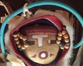 Hopi Kachina Corn Doll. Hand Made in the Traditional Style of Craftsmanship in Taos, New Mexico. c.1995. 19 quot Tall.