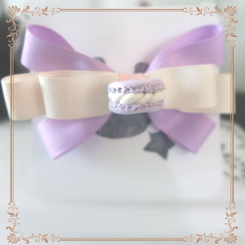 Cute Purple Macaroon Hair BowClip Accessory