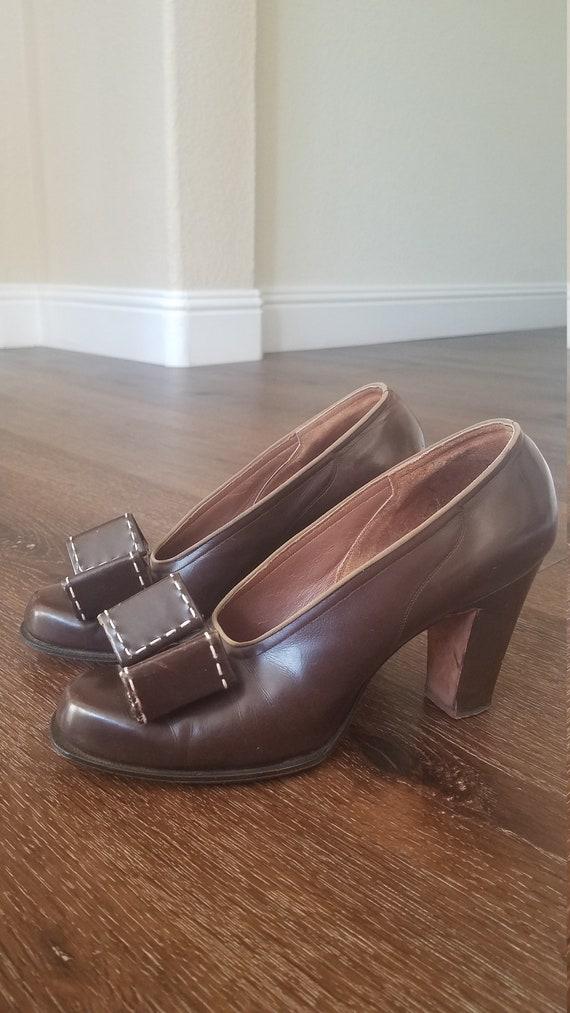1930s- 1940s Brown Vintage Heels