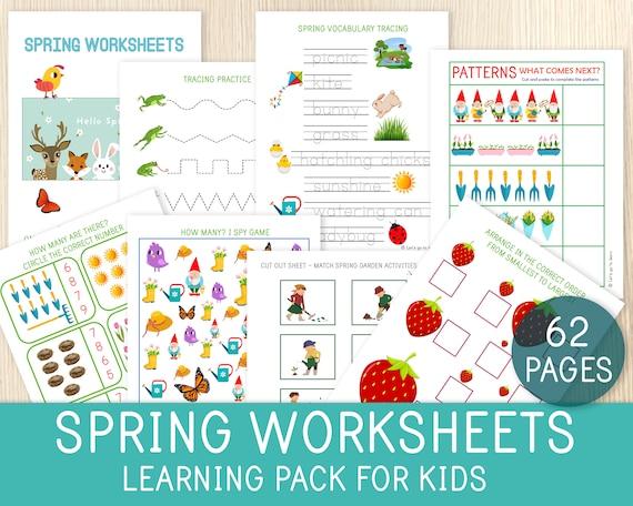 Spring Worksheets Spring Learning Pack Spring Themed