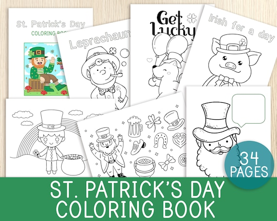 St Patrick's  Day Coloring Book Coloring Sheets Pages