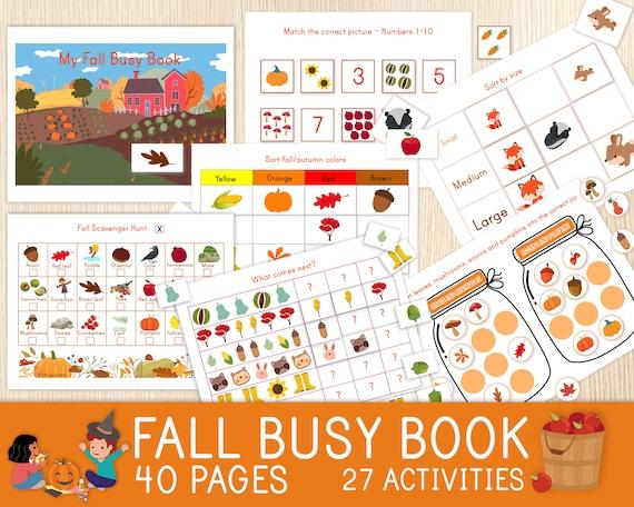 Fall Busy Book Autumn Preschool Kindergarten Homeschool