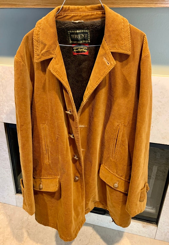 Vintage Fur Lined Corduroy Jacket by Brent, of Mon
