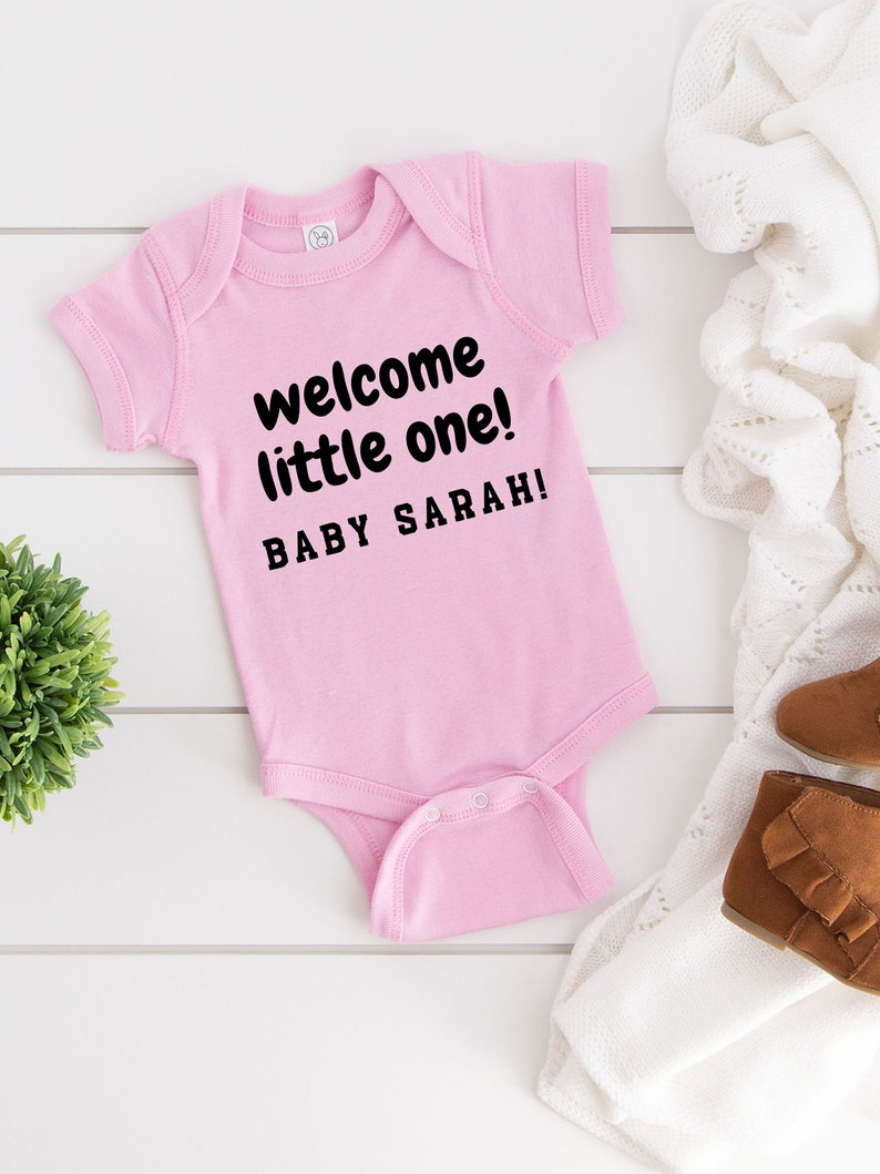Welcome Little One Hello Baby Suit Newborn BodySuit Infant Body Wear Custom Baby Suit Baby Shower Present Gift For Baby Baby Romper