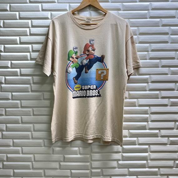 Vintage Super Mario Bros video game nintendo carto