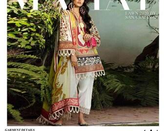 Sana Safinaz Mahay Latest 2019 Collection Shopping Luxury Lawn Dress Pakistani Designer Maria B Asim Jofa Baroque Buy Now Stitched 3B Small