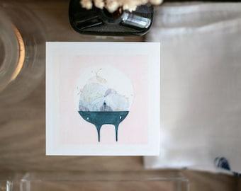 Magical Terrarium Print | Watercolour Painting Print | Cute Art Print