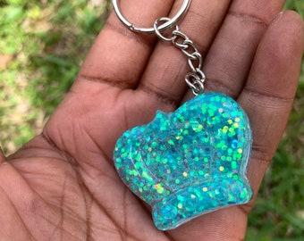 Glitter Crown Key Chain