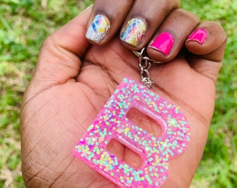 Epoxy Resin Letters Key Chains