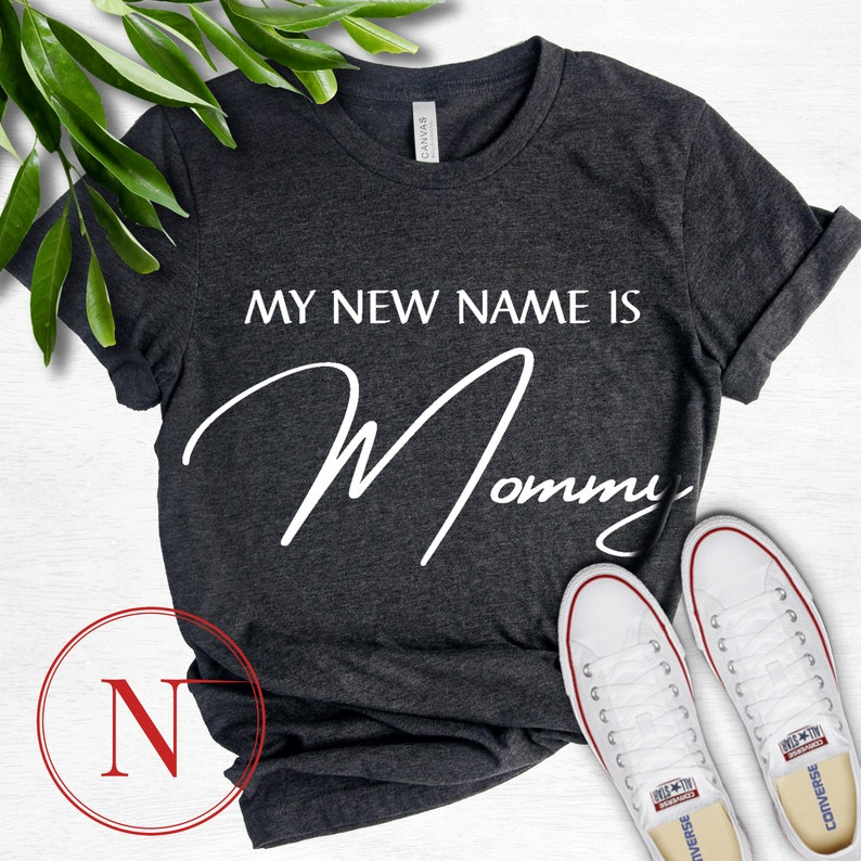 Mommy and Daddy Pregnancy Announcement Couple Matching Shirts \\ My New Name Is Daddy and My New Name Is Mommy