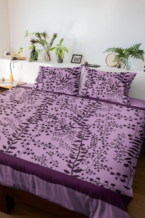 The Lavender Freesia Duvet Cover Bella, Twilight Bedding Set