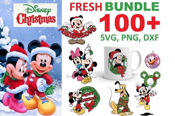 100+ Disney Christmas Bundle SVG, PNG, DXF