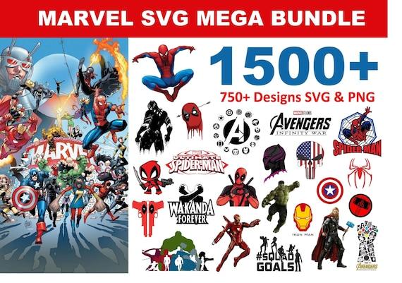 1500+ Marvel SVG Mega Bundle