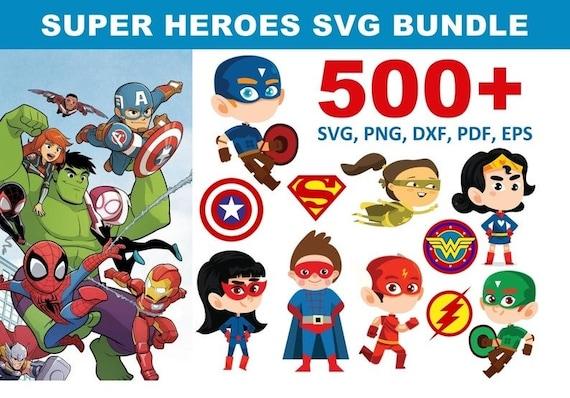 500+ Super Heroes SVG Bundle
