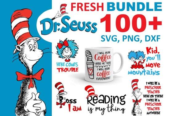 100+ Dr. Suess Bundle SVG, PNG, DXF, Teacher Cute File Svg for Kids, File For Cricut, For Silhouette, Cut File, Clipart, Cricut, Silhouette