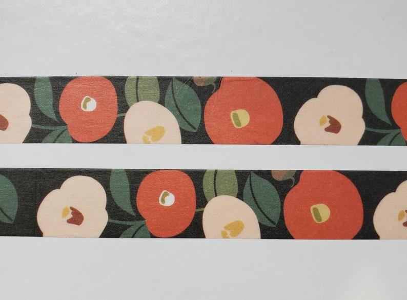 DIY Camellia Flowers Washi Tape Snailmail Decor Floral Washi Masking Tape Journaling Scrapbooking Planner Tape Decorative Tape
