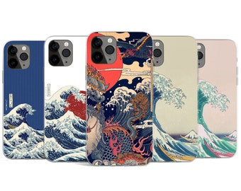 Japanese Kanagawa Great Wave Phone Case Aesthetic Abstract Art Cute Cover for Huawei Samsung & iPhone 12 11 6 7 8 X XS Max XR Pro Plus Mini