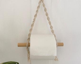 Natural toilet paper roll holder, toilet roll storage, bathroom accessories, boho bathroom decor, farmhouse cottage decor