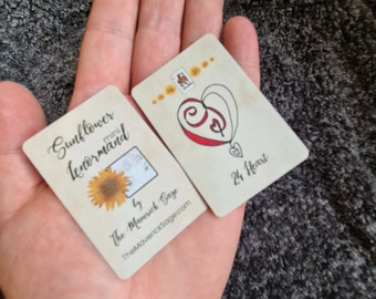 MINI Sunflower Lenormand - easy for learning, accurate for advanced, extra cards, insert cards, clear images