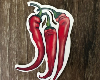 Waterproof Vinyl Chili Pepper Sticker