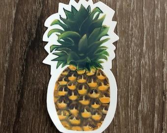 Waterproof Vinyl Pineapple Sticker
