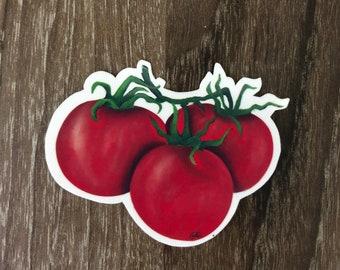 Waterproof Vinyl Tomato Sticker