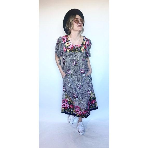 Loungees maxi dress, moo moo, maxi dress, floral m