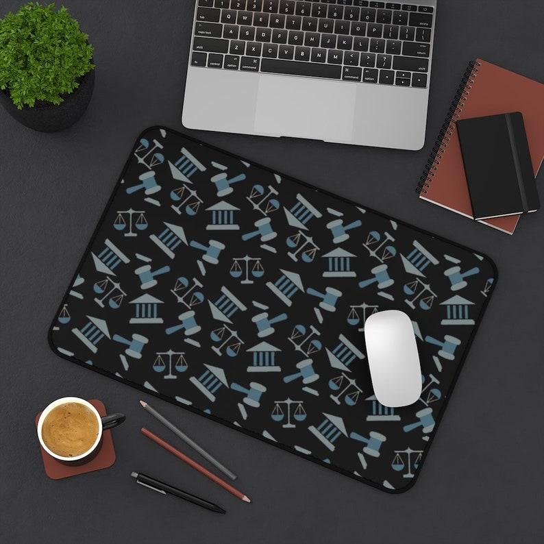 Law Student Gift Law School Graduate Gift Lawyer Symbol Desk Mat