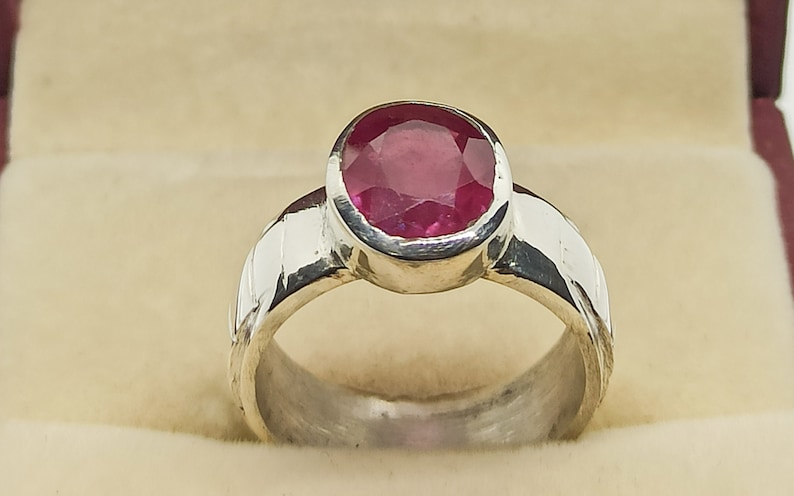Round Cut 100/% Natural Pigeon Dark Red Ruby Women Ring Sterling Silver 925 Unheated Untreated Deep Red Ruby Ring 5 Carat Yaqoot Ring